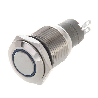 Angel Eye Blue Led 16mm 12V staInless Steel Round Momentary Push Button Switch