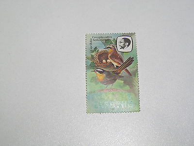 Timbre Poste Neuf Stamp TTB Lesotho Cape Robin 1992