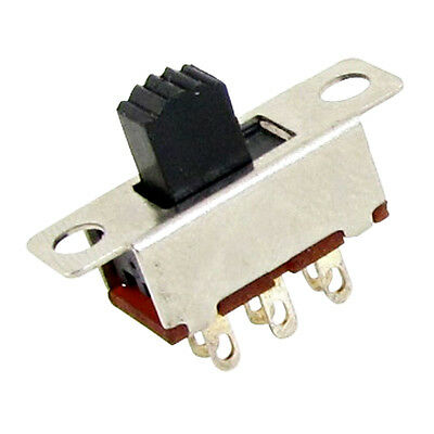 10 Pcs 2 Position DPDT 2P2T Panel Mount Vertical Slide Switch 6 Pin 0.5A 50V DC