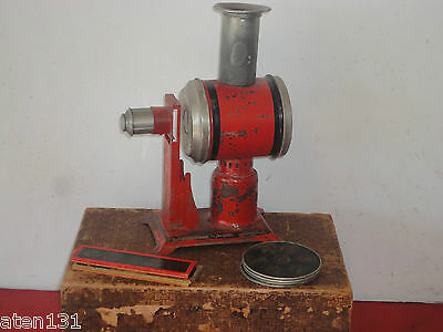 Antique Jean Schoenner Magic Lantern Laterna Magica Projector Boxed Set Tin Toy