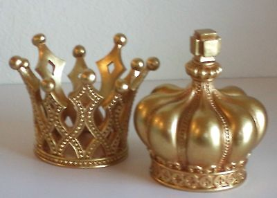Crown Decor Statue Shelf Table Top King Queen Prince Princess His Hers Gold New