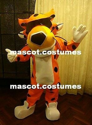 Cheetos Mascot Costume Cheetah Professional Special Chester suit Sz 5' 9""