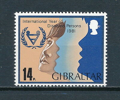 Gibraltar 413 MNH, Year of the Disabled, 1981