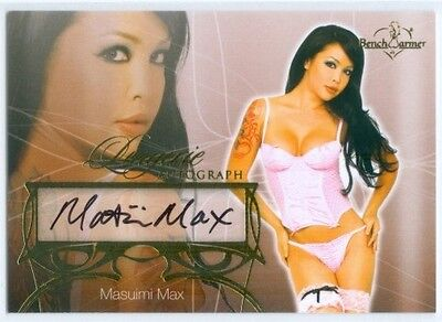 "Masuimi Max ""lingerie Autograph Card"" Benchwarmer Hobby 2013"