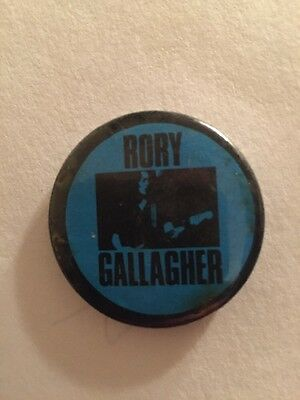 Rory Gallagher Vintage 70's Button Pin Punk Metal Rock N Roll Band Guitar Player