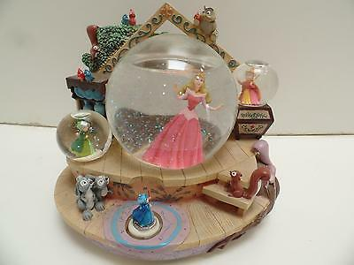Disney Sleeping Beauty Musical Glass Snow-Globe Fairies Once Upon a Dream Japan