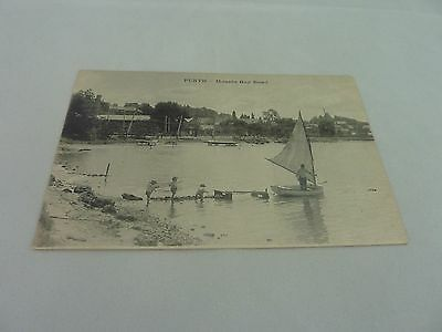 Original Vintage French postcard of Mounts Bay Road Perth Western Australia
