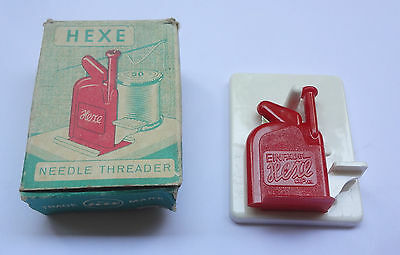 HEXE Vintage Plastic Needle Threader Boxed Made in West Germany Free Shipping