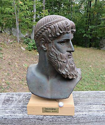 Poseidon Neptune God Bust Statue Sculpture 350B.C Museum Replica Greek Mythology