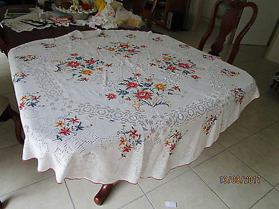 Very Colorful Round Tablecloth