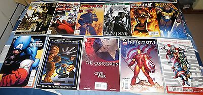 Lot of 20 DC and Marvel Comics #1 Issues (Superman, Avengers, Justice League) NM