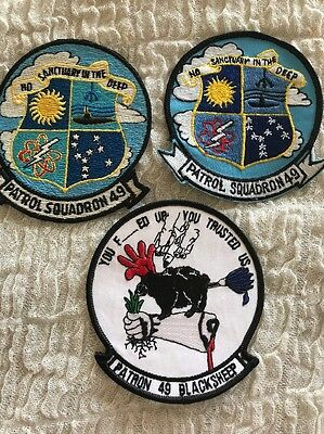 VP-49 BLACKSHEEP PATROL SQUADRON 49 -3 Patch Lot- Top Left Patch Full Embroidery