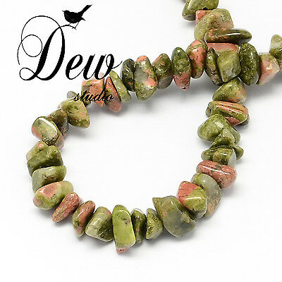 Natural Unakite Stone Bead Chips Beads, about 320pcs AU SELLER FREE POSTAGE