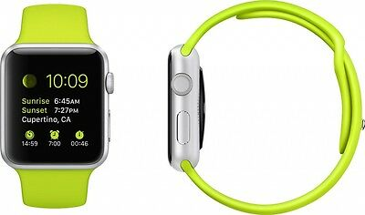 Authentic Original Green Apple Watch Sport Band 42mm - 2 Pieces