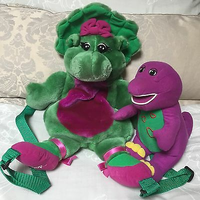 Barney The Dinosaur ~ Baby Bop Soft Plush Toy Backpack Bag