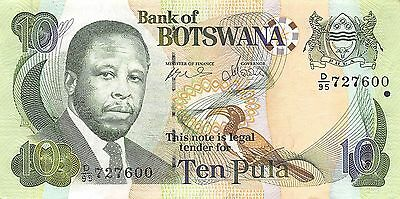 Botswana  10 Pula  ND. 2002  P 24a   Series D/95  Circulated Banknote MXA2EL