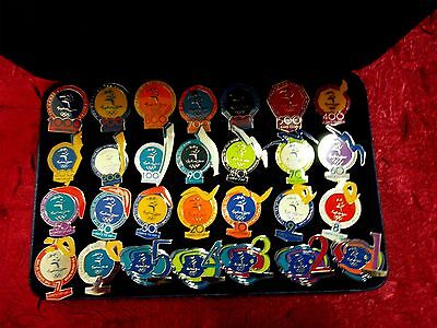 Sydney 2000 Olympic Games Count Down Pin - 1000- 1 Days To Go Badge Set