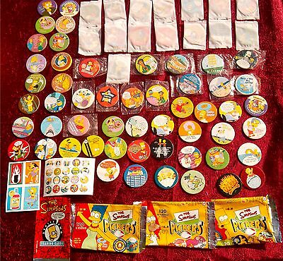 THE SIMPSONS TAZOS, STICKS , PICKERS ,CARDS, PACK  LOT 1990s RARE Australia