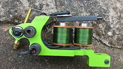 Border Tattoo Machine,packer/shader Custom Iron Frame 10 Layer 25Mm Green Coils