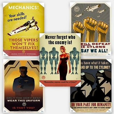 Battlestar Galactica Propaganda Posters Licensed Set (5) Colonial Ministry Cylon