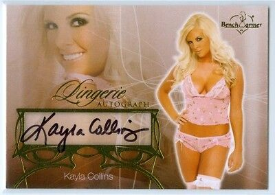 "Kayla Collins ""lingerie Autograph Card"" Benchwarmer Hobby 2013"