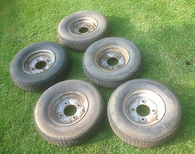 "10"" Trailer Wheels And Tyres  X 5"