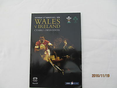 Wales v Ireland. Rugby Union. March 2011.