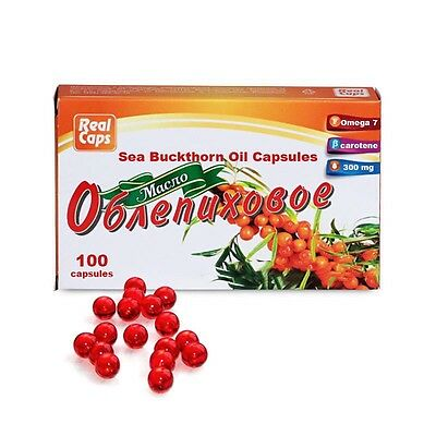 Sea buckthorn oil in capsules natural source of Omega-7 from Siberia