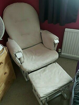 Nursing breast feeding rocking chair with stool