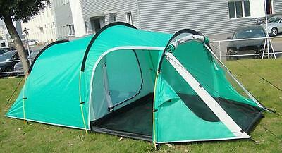 Outdoor Hiking Camping Tent 3-4 Person Tunnel Tents Double Layers Waterproof Cam