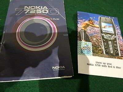 Vintage Nokia 7250 Mobile Phone Users Guide Instruction Manual Book 9355014