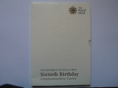 Prince Charles 60th birthday BUNC £5 coin in Royal Mint pack