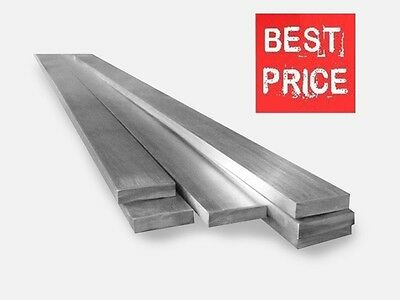 STAINLESS STEEL FLAT BARS - GRADE 304 - Various Size - 1 meter LONG !!