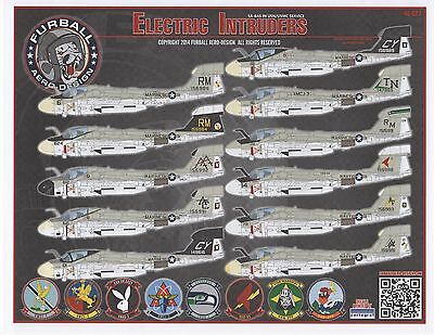 Ea-6A Usn/usmc Service Electric Intruder Furball Decals 48027 1/48 For Hobbyboss