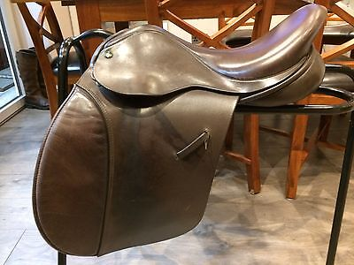 "Ideal  16"" Saddle Wide Brown"