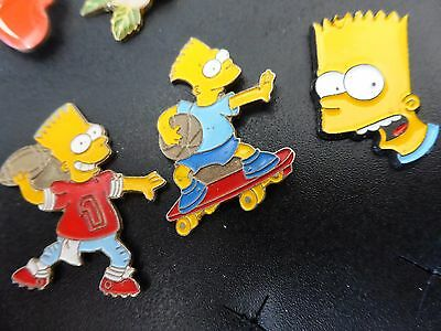 Collection of 3x The Simpsons Bart Simpson Pin Badge  Groening  Fox  Job Lot