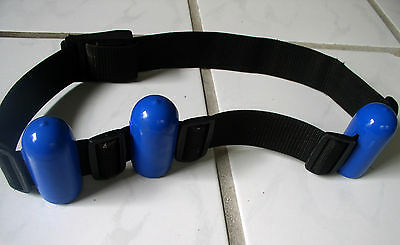 Scuba Belt Weight 6 lbs  39 inches long open black with blue weights