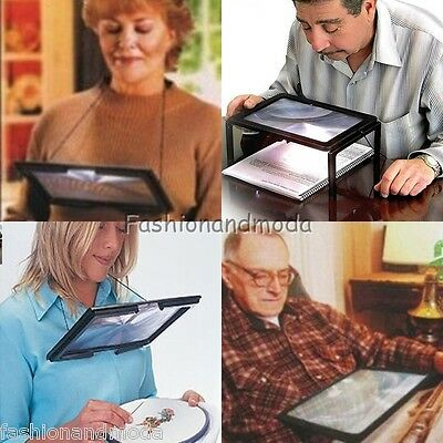 LED A4 LOUPE STAND PLIABLE AIDE LECTURE DE TABLE 3 Compartiments Grand