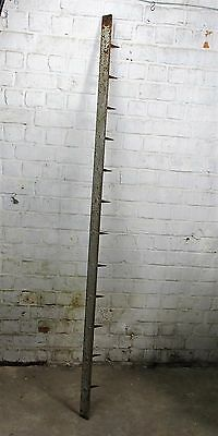 XL antique French  Butcher Rack Iron 12 Hooks Primitive Industrial Kitchen 70.4""