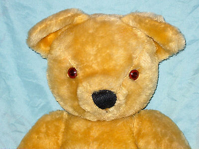 """Large Vintage Blonde Merrythought Jointed Teddy Bear 21"""" Tall Lovely Condition"""
