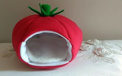 guinea pig / rat -fleece bed- TOMATO
