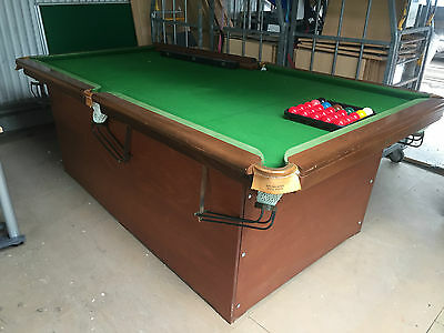 Slate Snooker Table with Balls and Scoreboard