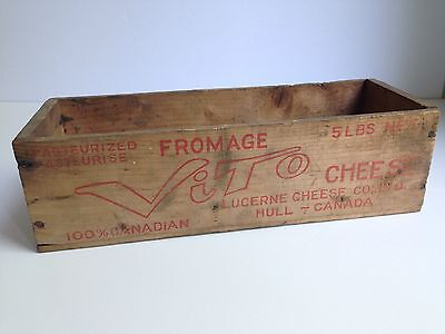 Vintage Wooden VITO 100% Canadian Hull, Quebec Cheese Box