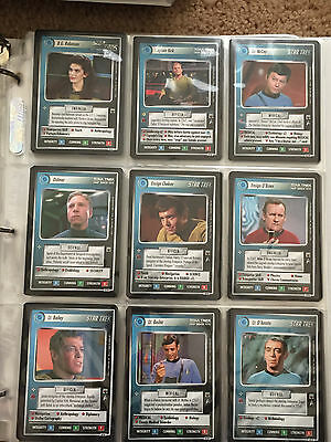 Star Trek Collectible Card Game CCG Trouble with Tribbles Complete Set 1E McCoy
