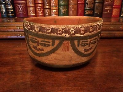 Authentic Pre-Columbian Nazca Indian Bowl Cup Artifact Nasca Precolumbian