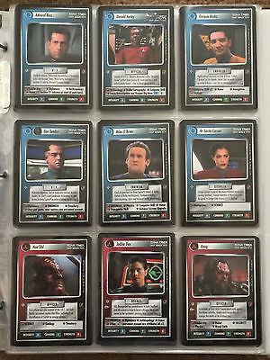 Star Trek Collectible Card Game CCG Blaze of Glory Complete Set 1E + 8 Foil Card