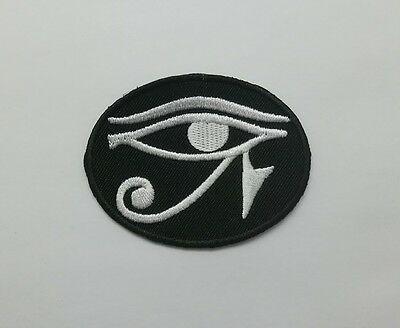 Eye of Horus Patch Sew Iron on Embroidered Symbol Egypt Jacket Appliques Badge