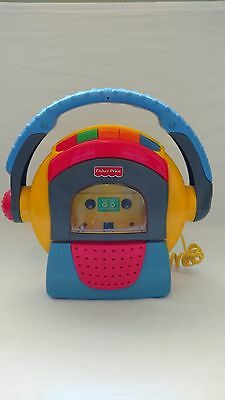Fisher Price 74885 Tuff Stuff Cassette Tape Player Recorder Microphone 1999