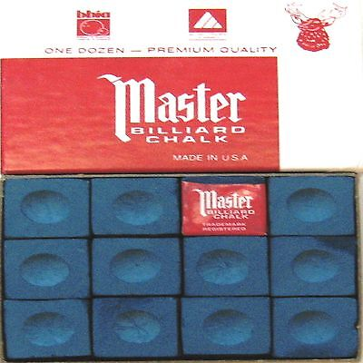 1 x BOX OF BLUE MASTER Snooker or Pool Cue Chalk !!!    amazing value for $$$