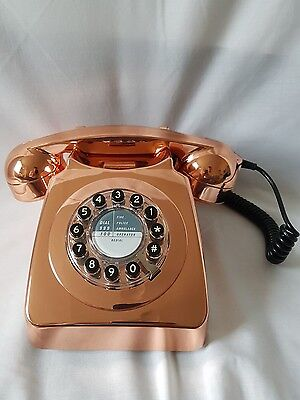 Wild & Wolf Copper 746 Push Button Telephone Retro Phone £65 Rrp New With Box